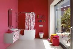 Banheiro Cor-de-Rosa