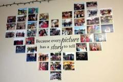 Decoração feita com Fotos