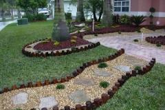 Jardim com Pedriscos